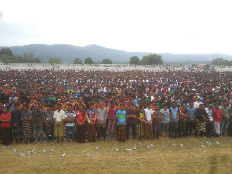 Gladi bersih tari Saman 10001 peserta di Gayo Lues.