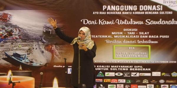 Prihatin Palu, Sigi dan Donggala, Komunitas di Riau Galang Donasi