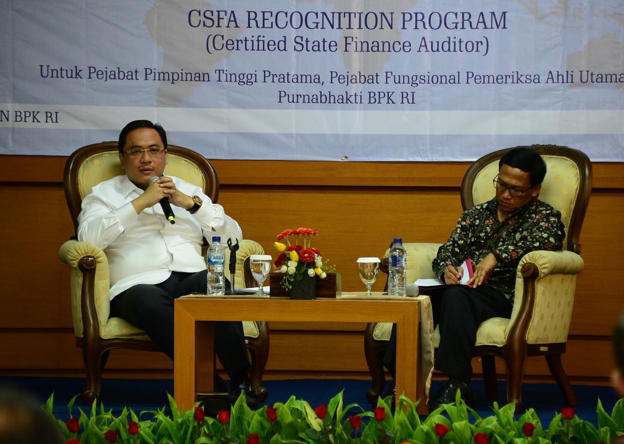 Ketua BPK : Sertifikasi CSFA Akan Dirancang Bukan Hanya Untuk BPK