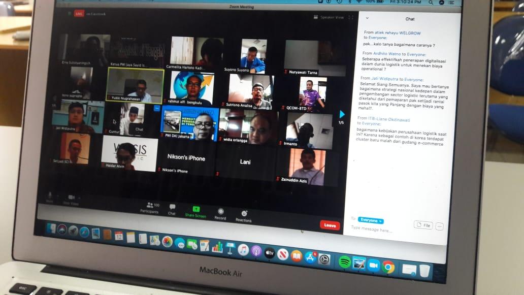 diskusi virtual Webinar Series PWI Jaya di Jakarta