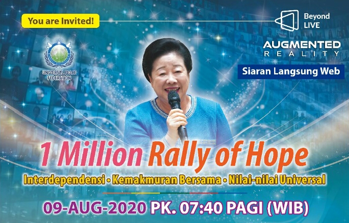 Universal Peace Federation akan Selenggarakan KTT Daring Virtual Rally of Hope