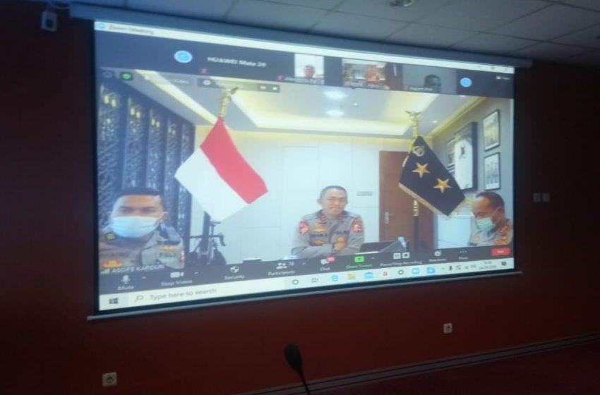Webinar Mappilu-PWI: Polri Tak Akan Keluarkan Ijin Keramaian di Pilkada 9 Desember