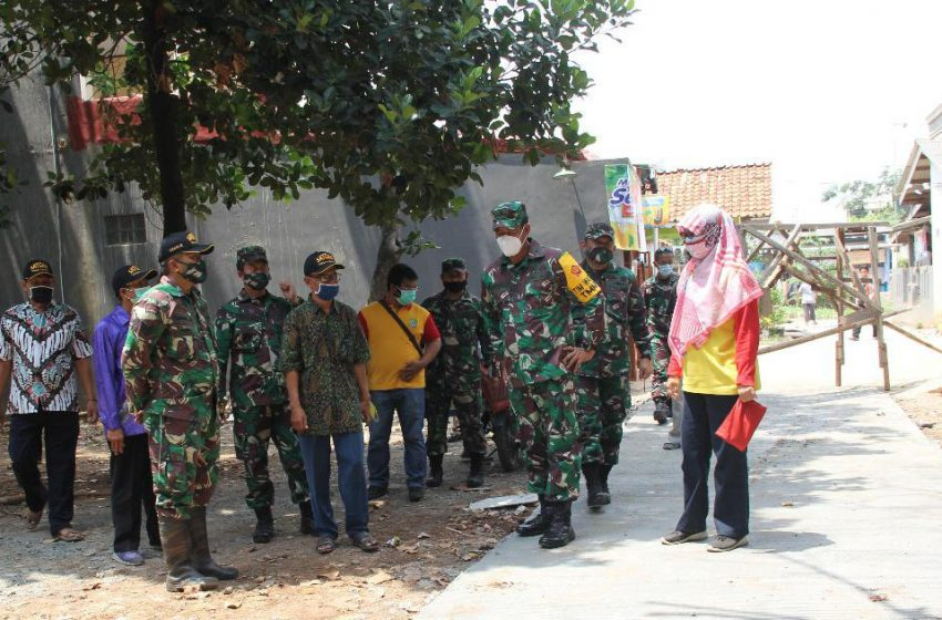 Tim Wasev Itjenad Tinjau TMMD Ke-109 Wilayah Kodam Jaya di Mustikajaya Bekasi