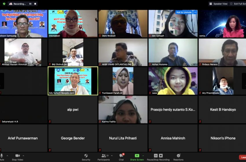 Kesadaran Masyarakat Kunci Penanganan Covid – 19, Pembahasan Webinar Forum PWI Jaya-SJI