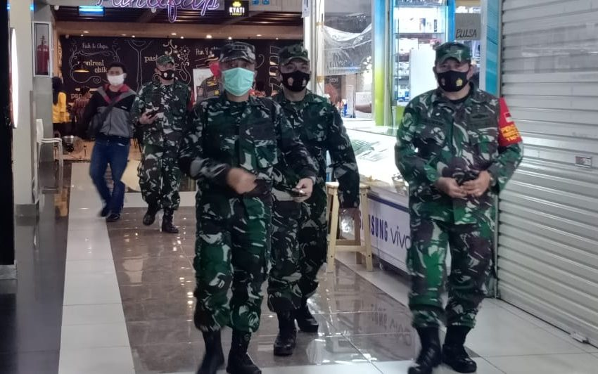 Sidak Satgas PDMPK Kodam Jaya di Mall Buaran