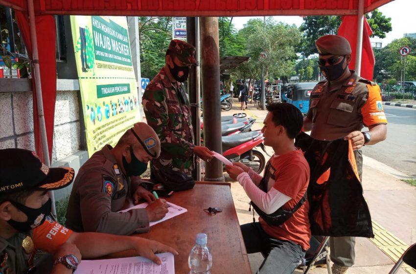 Operasi Yustisi Tertib Masker Tiga Pilar Kecamatan Senen