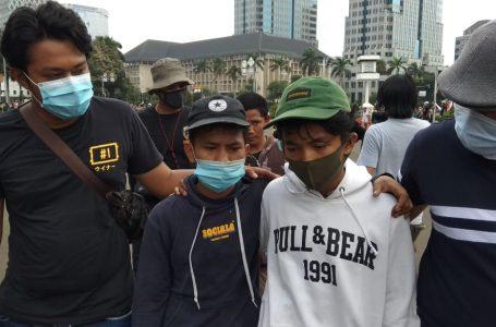 Polisi Amankan Puluhan Kelompok Anarko Diduga Memboncengin Aksi Demo Tolak Omnibus Law