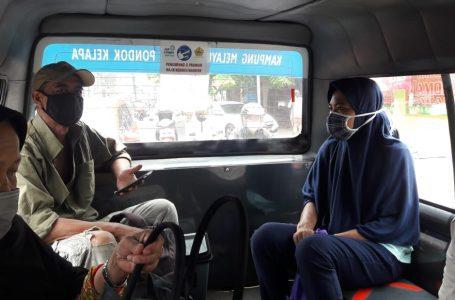 Pengemudi Jak Lingko Terapkan Protokol Kesehatan