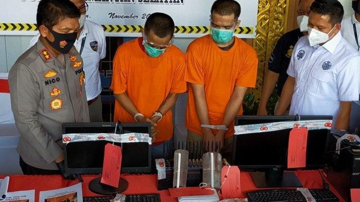 Tim Siber Polda Kalsel Bersama Polres Cilacap Ringkus Dua Pelaku Hacking Pulsa