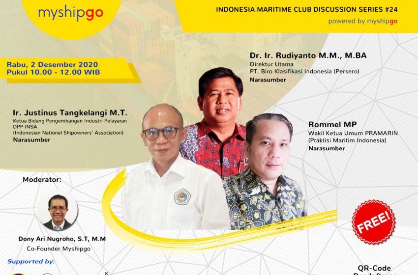 IMC Discussion Series #24 : Peran Badan Klasifikasi Dalam Memajukan Sektor Maritim Indonesia