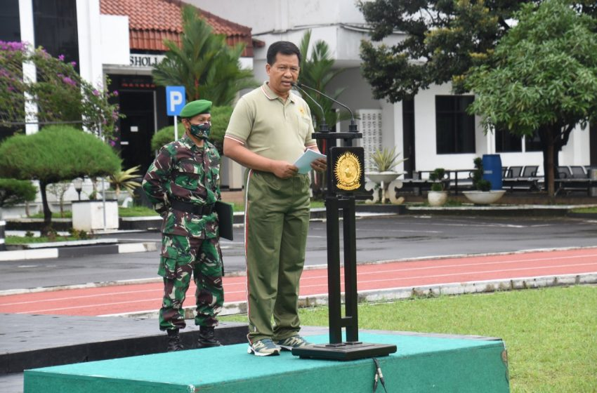 Arahan Wadan Seskoad Pada Apel Pagi bagi Prajurit dan PNS