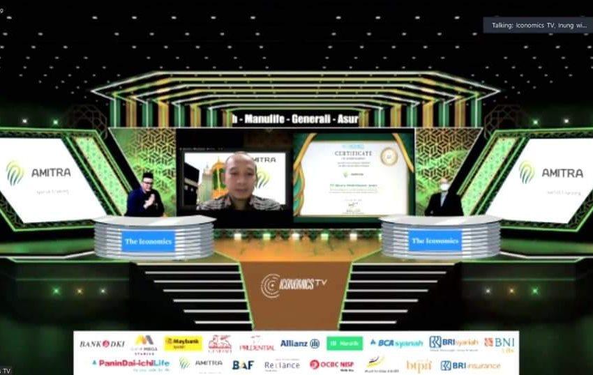 "Penghargaan ""Iconomic Syariah Award"", Amitra The Best Sharia Multifinance 2021"