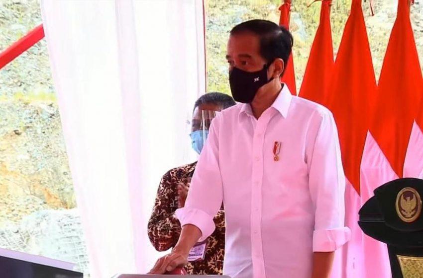 Kapolda Jatim Dampingi Presiden Jokowi Resmikan Bendungan Tukul di Pacitan