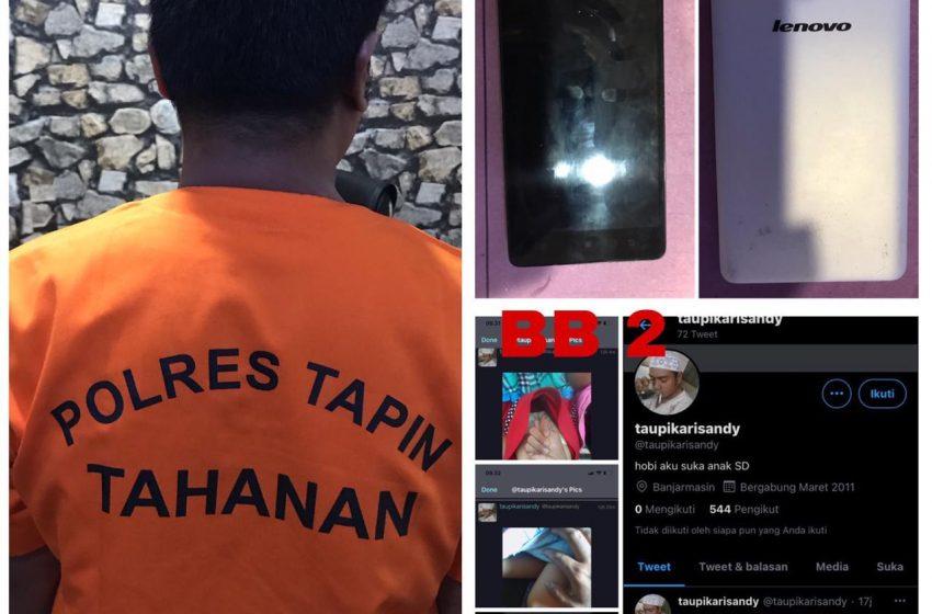 Siber Polres Tapin Ringkus Pelaku Penyebar Foto Bugil Anak Dibawah Umur