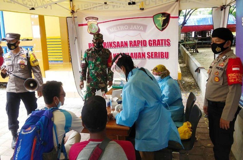Bertahan di Zona Hijau, KTJ Pulau Untung Jawa Terus Lakukan Rapid Tes Gratis Pendatang