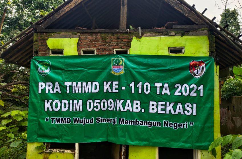 Dandim 0509/Kab Bekasi : Pra TMMD Ke-110 Bangunan Posyandu