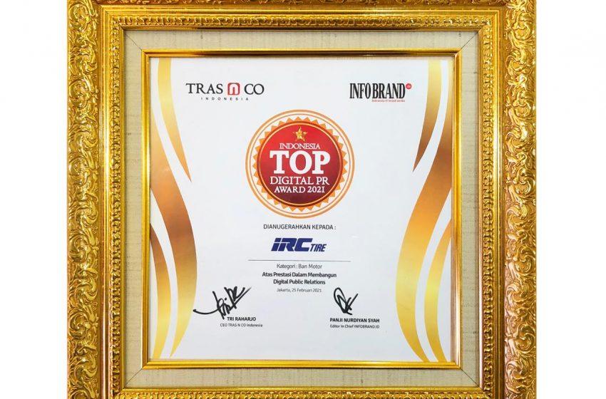 Implementasikan Strategi Komunikasi Melalui Digital Platform, IRC Sabet Penghargaan Indonesia TOP Digital PR Award 2021