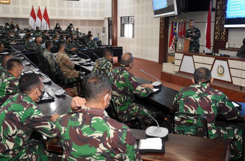 Pembekalan Komandan PMPP TNI Kepada Pasis Dikreg Seskoad