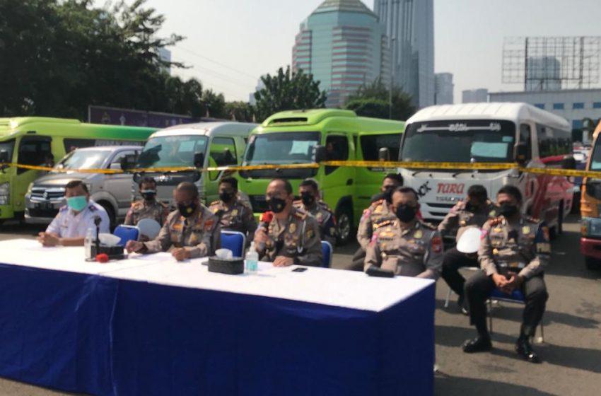 Total 115 Taksi Gelap Diamankan Ditlantas PMJ Nekat Angkut Pemudik