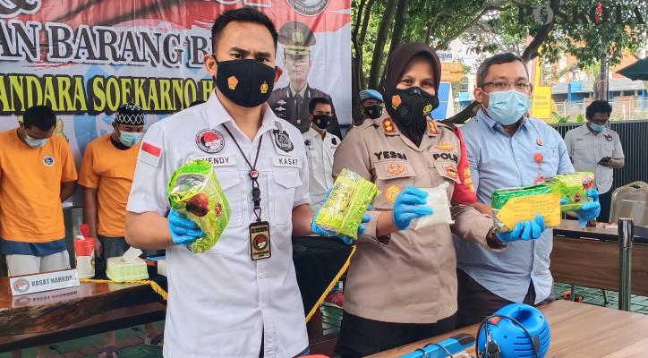 Polresta Bandara Soetta Gagalkan Pengiriman 500 Gram Sabu Tujuan Lombok