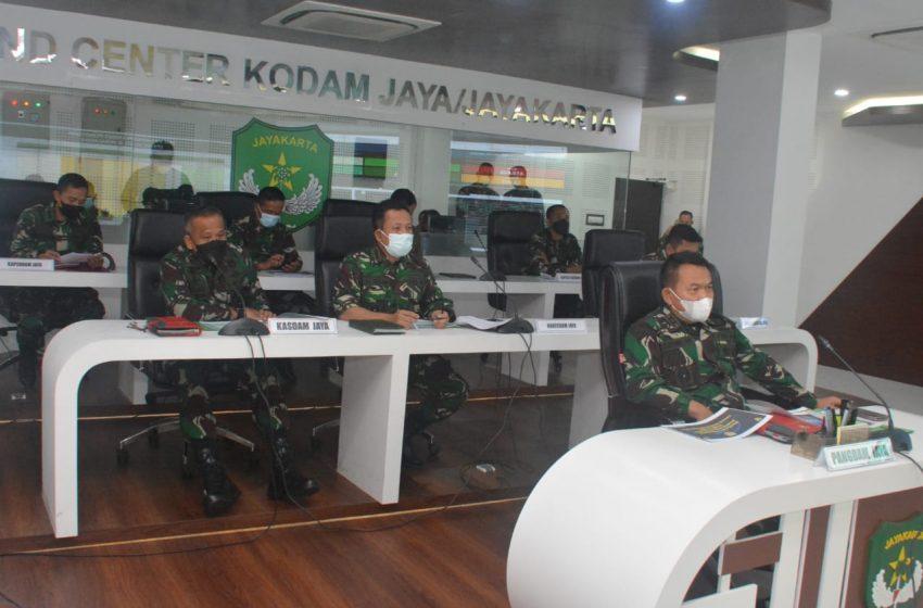 Pangdam Jaya Vicon Bersama Kasad Terkait Vaksinasi Purnawirawan, Istri, Warakawuri TNI AD