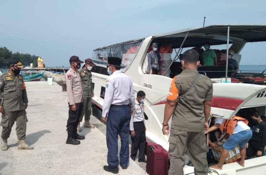 Polsek Kep Seribu Utara Tempatkan Personel Diruang Publik, Antisipasi Kerumunan