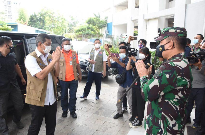 Kunjungi Wisma Atlet Kemayoran Kepala BNPB : Kami Yakin Pengendalian Covid-19 Dapat Diatasi