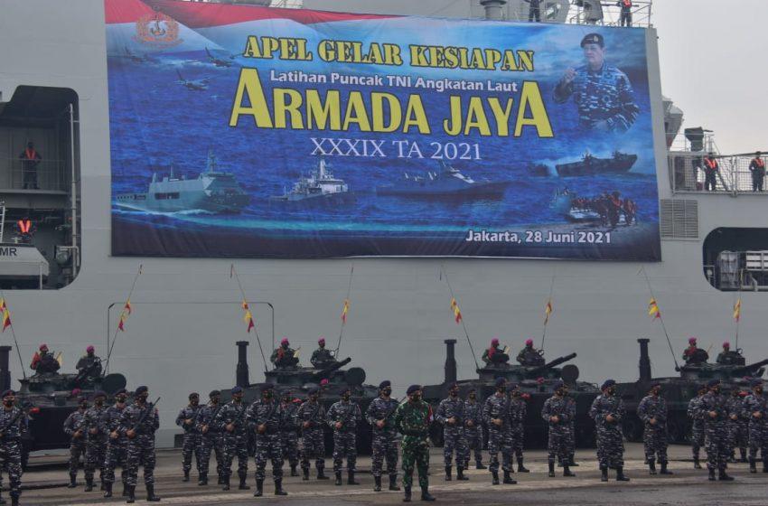 Kasdam Jaya Hadiri Apel Gelar Kesiapan Latihan Puncak TNI-AL Armada Jaya XXXIX