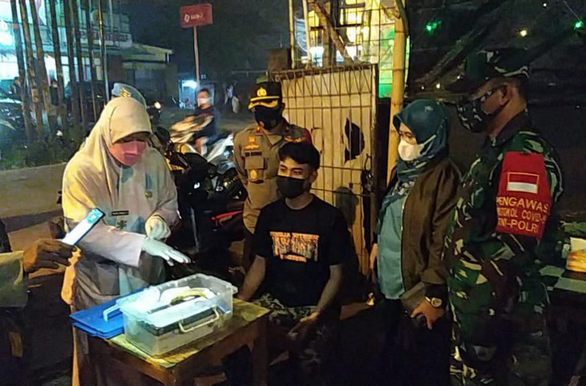 Antisipasi Penyebaran Covid-19, Kecamatan Limo Laksanakan Operasi Yustisi