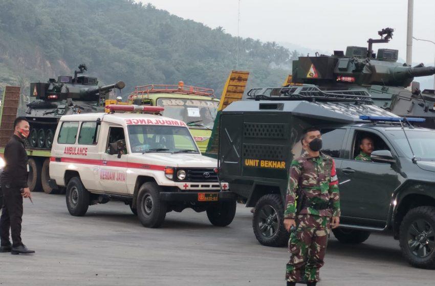 Pangdam Jaya Lepas Konvoi Alutsista Menuju Baturaja