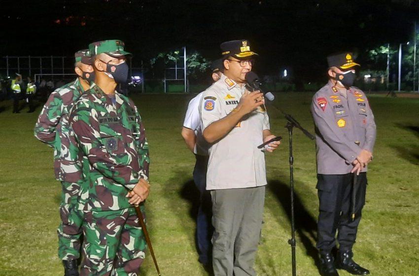 Gubernur, Pangdam dan Kapolda Metro Jaya Apel Bersama Pendisiplinan PPKM