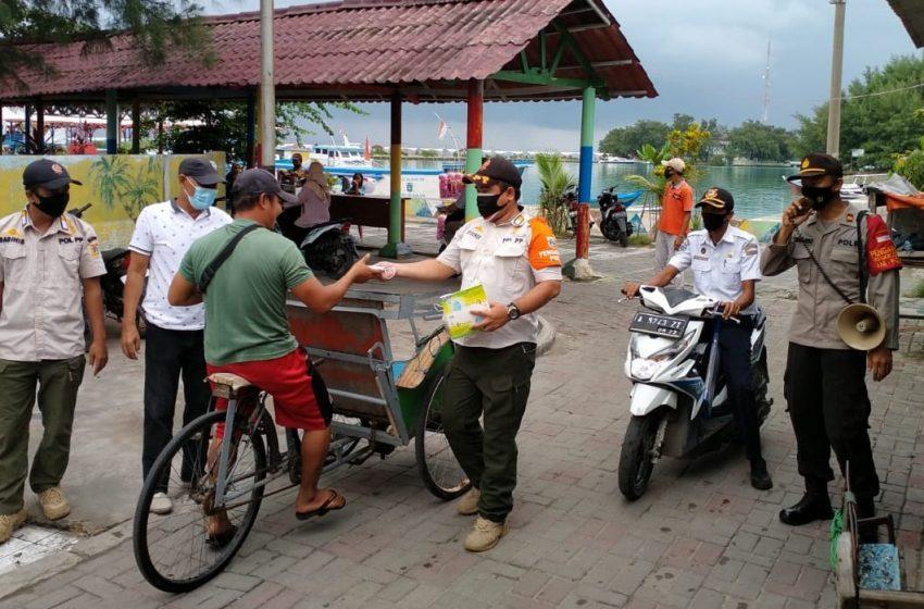 Cegah Covid-19, Polres Kep Seribu Himbau & Bagikan 3.000 Masker Medis