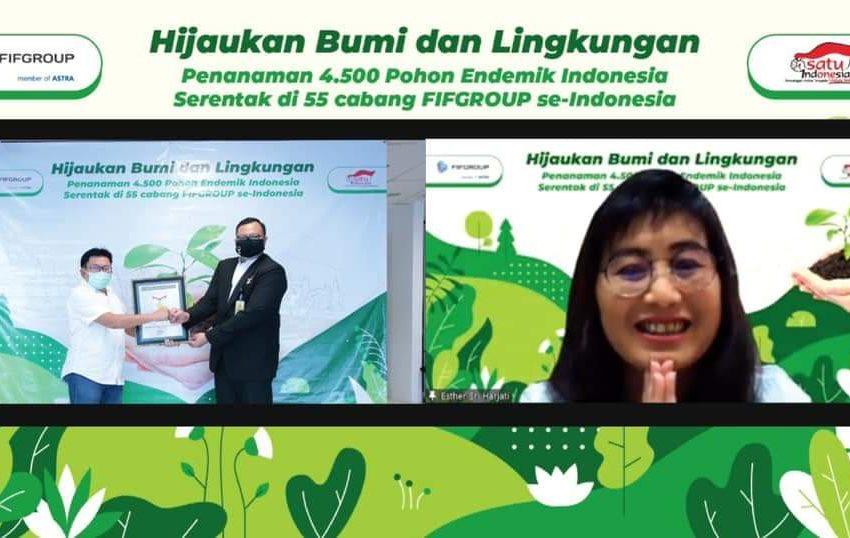 Pecahkan Rekor MURI, FIFGROUP Hijaukan Bumi Tanam 4.500 Pohon Endemik