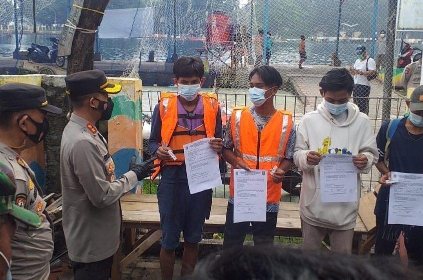 Ops Yustisi Gabungan Polres Kep Seribu Jaring Lima Pelanggar ProKes