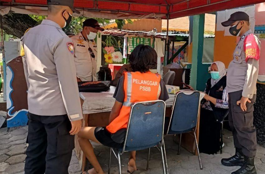 Ops Yustisi Gabungan Polsek Kep Seribu Selatan, Tindak 12 Warga Tidak Menggunakan Masker