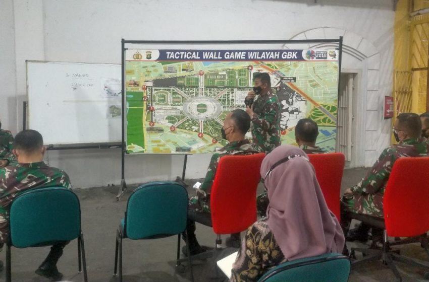 Kasdam Jaya Pimpin Tactical Wall Game Pelaksanaan Vaksinasi Massal di GBK Senayan