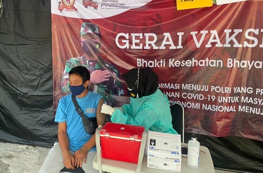 Hari ini, Gerai Vaksin Presisi Polres Kep Seribu Suntik 17 Warga Masyarakat