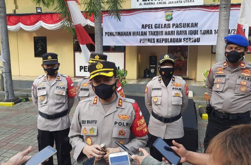 Polres Kepulauan Seribu Gelar Apel Pengamanan Malam Takbiran Idul Adha 1442 H