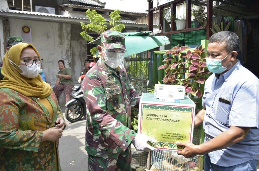 Kapendam Jaya : Kunjungan Dandim 0501/ JP BS Bentuk Perhatian Terhadap Babinsa Sedang Isoman