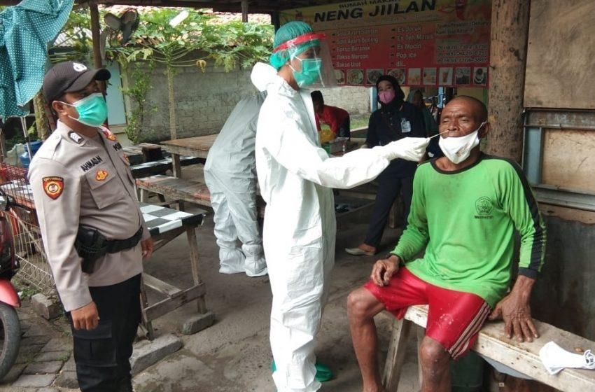 Cegah Sebaran Covid-19, KTJ Pulau Lancang Tracing Swab Antigen 12 Warga
