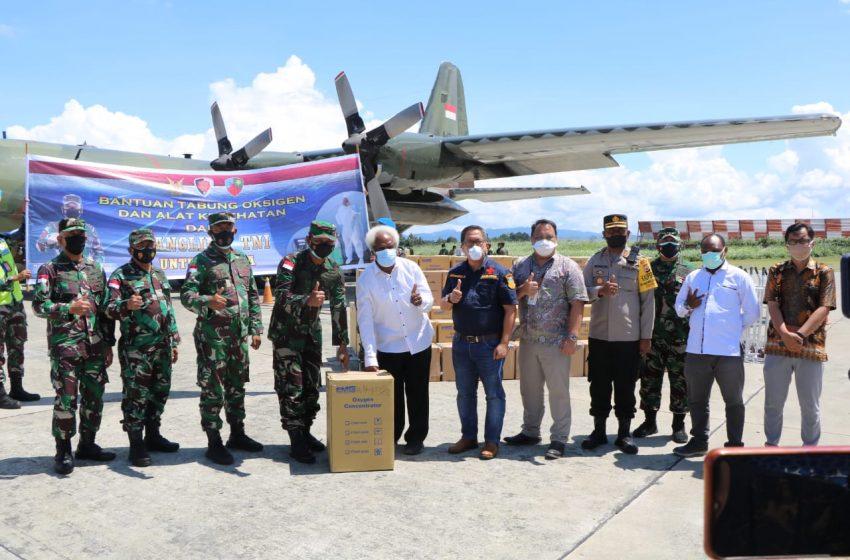 Bantuan Tabung Oksigen dan Alkes dari Panglima TNI untuk Masyarakat Papua