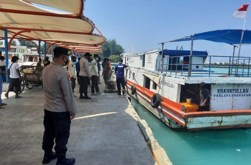 Cegah Penyebaran Covid-19, Polsek Kep Seribu Utara Perketat Aturan ProKes di Pulau Pemukiman