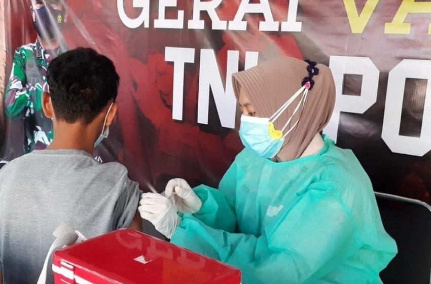 Gelar Suntik Vaksin, Gerai Vaksin Presisi Polres Kep Seribu Suntik 42 Warga Masyarakat
