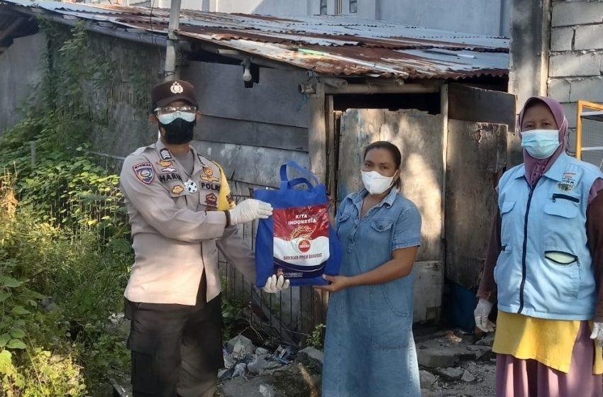 91 KK di Slum Area Hari ini Dapat Bansos dari Polres Kep Seribu