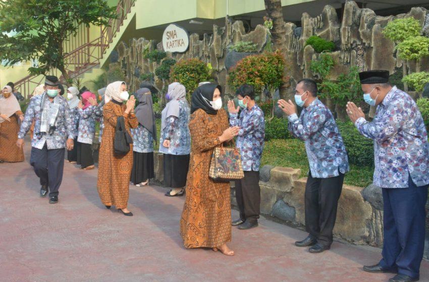 Kunjungan Perdana Ketua Yayasan Kartika Jaya Cabang XVIII Ke Sekolah SMK, SMA dan SD Kartika