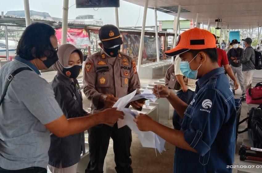 PPKM Level3, Aturan ProKes terus diketatkan Polres Kep Seribu di Dermaga-dermaga Keberangkatan