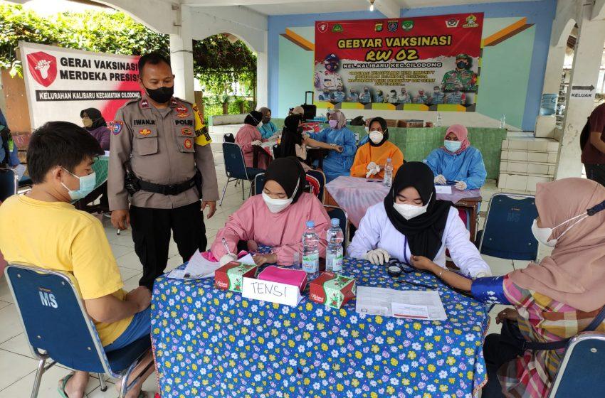 13 Gerai Vaksinasi Presisi Disiapkan Polsek Sukmajaya Untuk 6000 Warga Kecamatan Sukmajaya dan Cilodong
