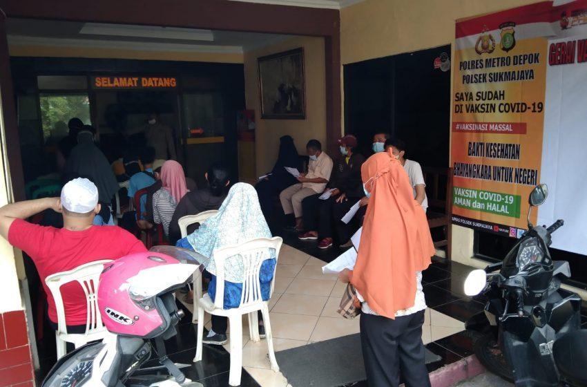 Kapolsek Sukmajaya : Target Kami Akhir Oktober Warga Kecamatan Sukmajaya dan Cilodong Capai 100 Persen Tervaksin