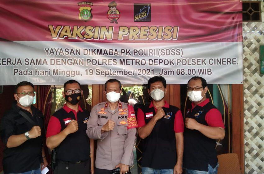 Gerai Vaksinasi Massal Dosis I, Kapolsek Cinere : Kita Siapkan Untuk Warga Kp. Pulo Mangga Kelurahan Grogol