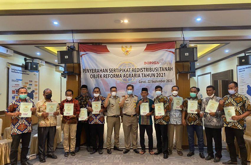 Kakan BPN Garut, Nurus Sholichin: Penerima Sertipikat Redistribusi Untuk Kesejahteraan
